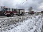 Pedestrian struck on WB I-70 after crash