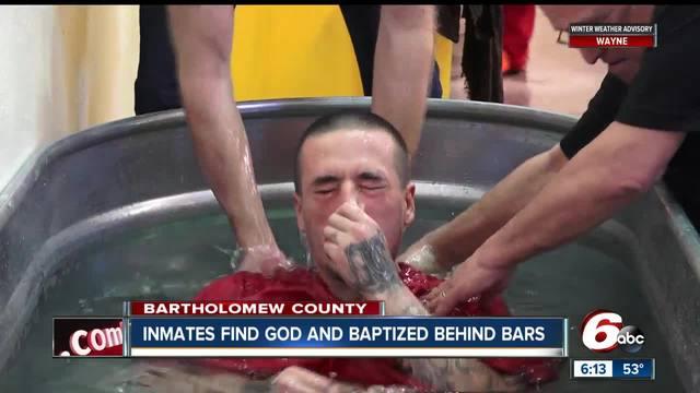 56 inmates baptized at Bartholomew County jail