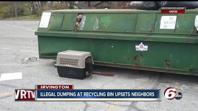 Irvington neighbors concerned that illegal dumping at recycling bin will…