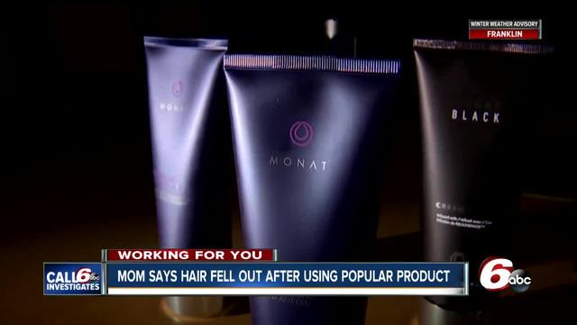 New Palestine mom says popular hair product left family-s hair falling…