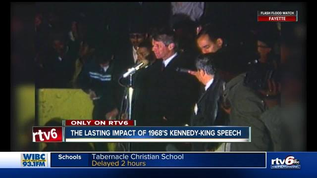 Civil rights icon recalls RFK speech about MLK assassination