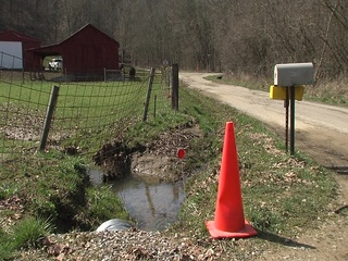 Country road becomes dangerous I-69 detour