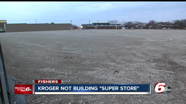 The plan was to build a Kroger Super Store at the site of an old Marsh but now the company says they have different plans for the land