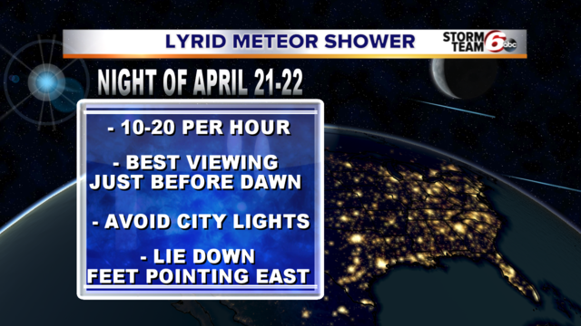 Lyrid meteor shower starts Monday night