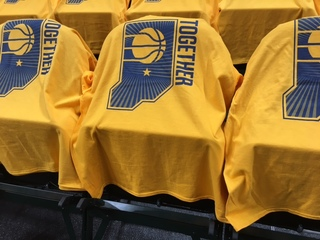 Pacers get the gold ready for Game 3