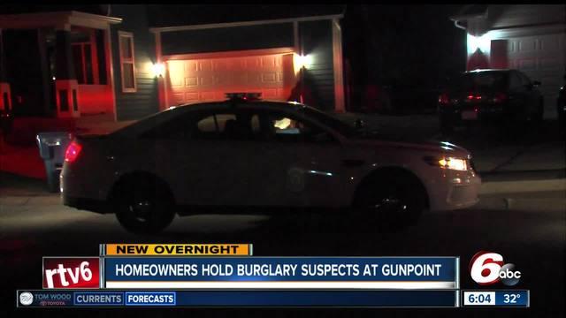 Homeowner holds 2 burglary suspects at gunpoint