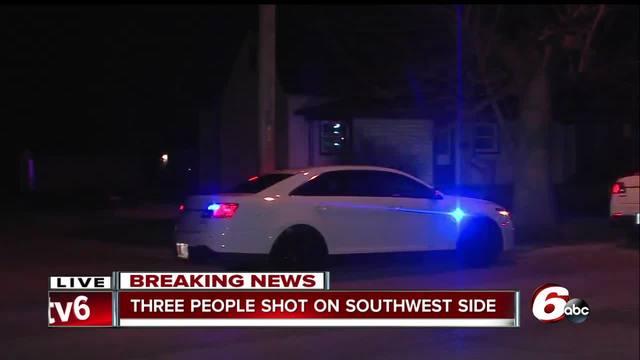 Three people shot on Indianapolis- southwest side