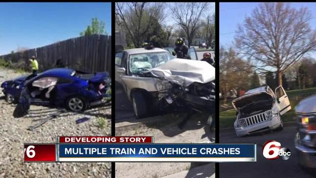 Three train vs. vehicle crashes in one day near Indianapolis ...
