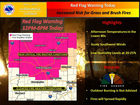 Check weather warnings before a bonfire