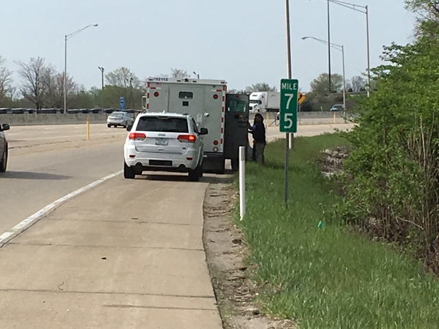 Brinks Truck Drops Thousands Of Dollars On Indianapolis Highway