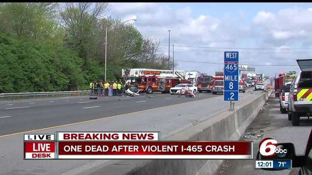 Police investigate fatality on SB I-465 after vehicle crashes off overpass