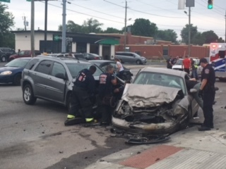 Child in car that crashed following police chase