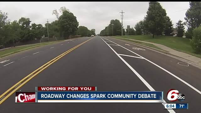 Columbus residents questioning decision to widen and then narrow the same road