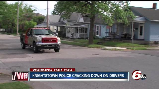 Knightstown police chief says he-s gotten so many complaints about…