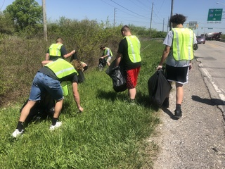 Decatur Central High athletes clean up
