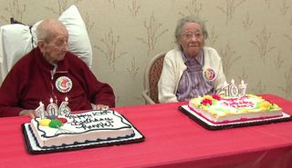 Indy nursing home celebrates two centenarians