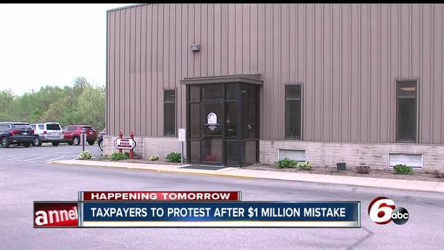 Taxpayers to protest after -1 million mistake