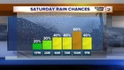T'Storm chances increase. Warm Weekend