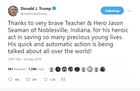 President Trump thanks hero Noblesville teacher