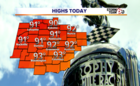 Near-record heat for Indy 500