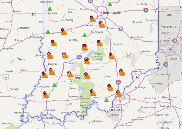 More Than 50,000 Hoosiers Lost Power Because Of Storms Thursday Afternoon