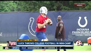 WATCH: Andrew Luck is throwing a football again
