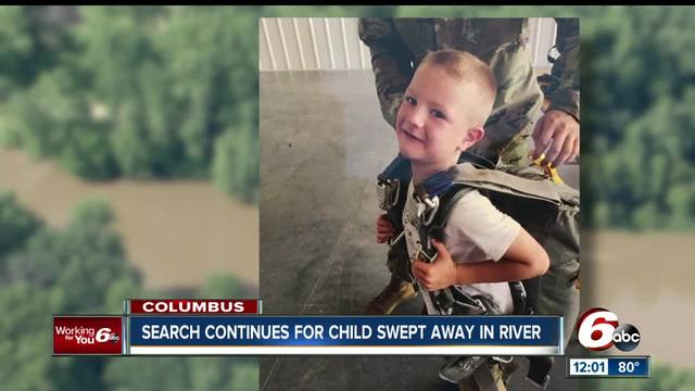 Search resumes for 6-year-old Brendan Sperry who was swept away by the…