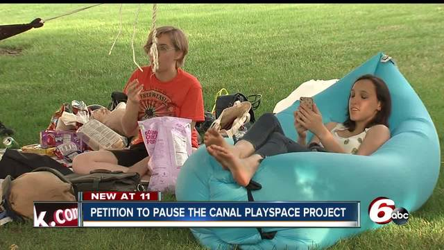 Controversy over a playground plan in downtown Indianapolis