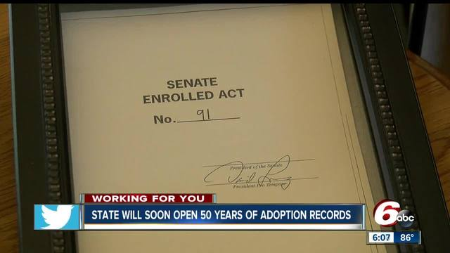 Indiana preparing to open the records for all adoptions between 1941 and 1993