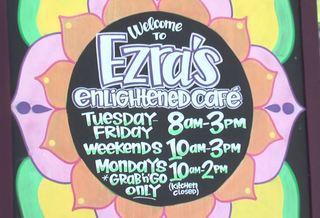 Ezra's offers food to enlighten body & mind