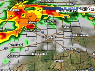 TIMELINE: Scattered storms across C. Indiana
