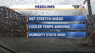 Alert: T'Storm transition to cooler temps