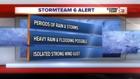 ALERT: Sct. T'Storms tonight. Warm next week