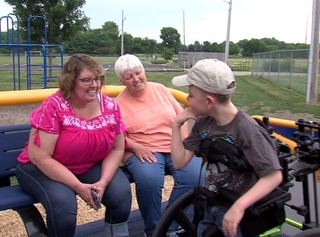 Pittsboro gets first wheelchair-accessible swing
