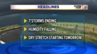 ALERT: Scattered T'Storms into evening