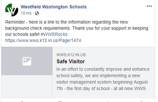 New safety measure for all Westfield schools