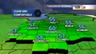 Clear and cooler tonight. Lows dip into 50s