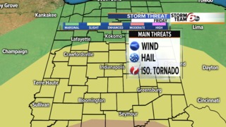 Severe storm potential Friday