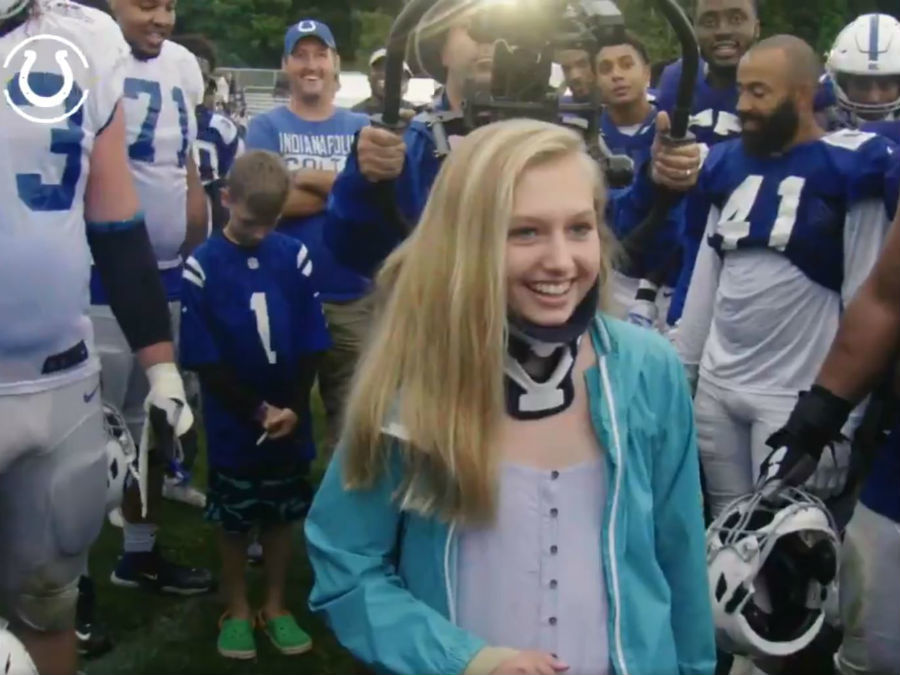 Colts Honor Ella Whistler At Sunday S Training Camp Theindychannel Com Indianapolis In
