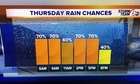 More rain Thursday. Low severe risk