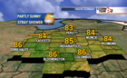 Warm Sunday followed by more rain chances