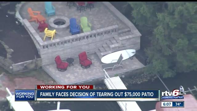 Family In Geist Faces $75,000 Decision Over Patio That City Wants Them To  Tear Down   TheIndyChannel.com Indianapolis, IN