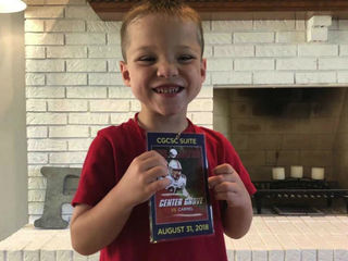 Young FB fan with sensory issue gets surprise