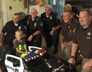 Boy surprised with cruiser after his is stolen