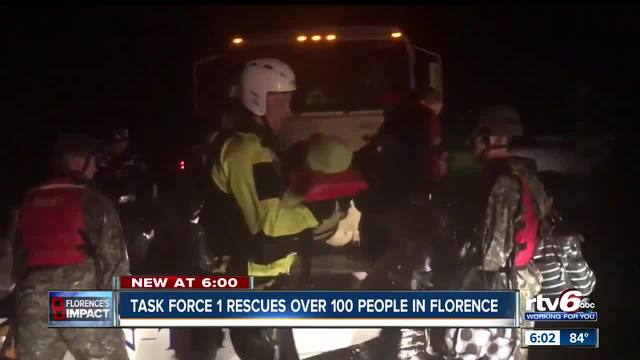 Indiana Task Force 1 helps with rescue efforts in North Carolina after Florence