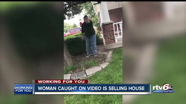 Indy woman caught on video attacking neighbors to sell home- HOA lists…