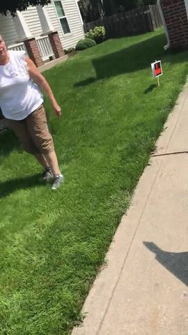 Indy woman attacks neighbors with yard signs- threatens their lives