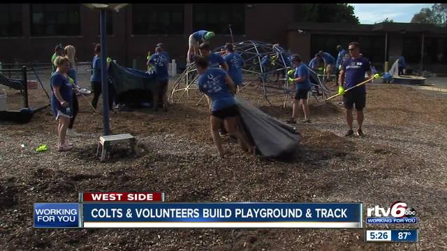 Colts join group to help build new park at Stephen Foster School 67 in…
