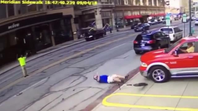 Watch person riding scooter struck by vehicle in downtown - Nearest garage to my current location ...