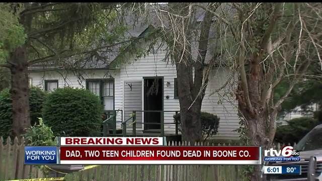 Deaths of father and two teen children in Boone County believed to be a…
